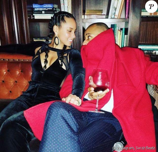 Alicia Keys et son mari Swizz Beatz. Avril 2020.