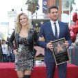 Michael Bublé honoré avec son étoile sur le Walk Of Fame à Hollywood avec Luisana Lopilato Los Angeles, le 16 novembre 2018.