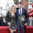 Michael Bublé honoré avec son étoile sur le Walk Of Fame à Hollywood avec Luisana Lopilato Los Angeles, le 16 novembre 2018