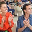 Anthony Delon et la comédienne Sveva Alviti lors du Longines Paris Eiffel Jumping au Champ de Mars à Paris, le 7 juillet 2019 © Veeren Ramsamy/Bestimage