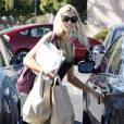 Denise Richards fait du shopping à Los Angeles, le 25 août 2009.