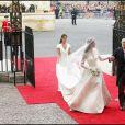 Arrivée de Kate Middleton, son père Michael et sa soeur Pippa Middleton à l'abbaye de Westminster pour son mariage avec le prince William, le 29 avril 2011, à Londres.
