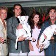 Siegfried & Roy avec Arnold Schwarzenegger et sa femme Maria Shriver.