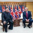 Donald Trump et Kim Jong-un lors d'une rencontre organisée en zone coréenne démilitarisée, le 30 juin 2019.