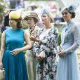 La princesse Eugenie d'York, La princesse Anne, Zara Phillips (Zara Tindall), Catherine, Duchess of Cambridge - La famille royale britannique et les souverains néerlandais lors de la première journée des courses d'Ascot 2019, à Ascot, Royaume Uni, le 18 juin 2019.