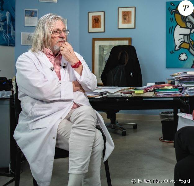 Réalisation de l'entretien du professeur Didier Raoult à Marseille, diffusé le 30 avril 2020 sur BFMTV.