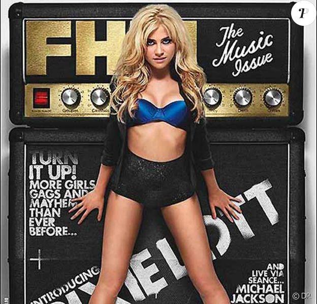 Pixie Lott en couverture de FHM Music Issue