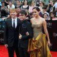 """Rupert Grint, Daniel Radcliffe et Emma Watson à la première du film """"Harry Potter et les reliques de la mort : partie 2"""" à New York en 2011."""