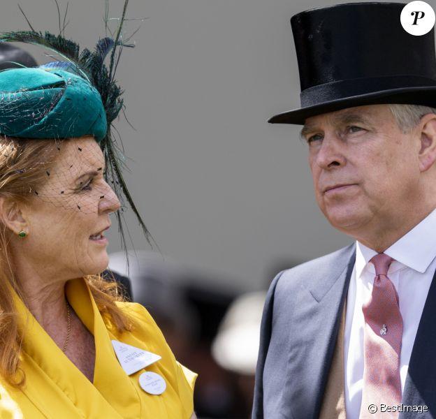 Le prince Andrew, duc d'York, et Sarah Ferguson à Ascot le 21 juin 2019.