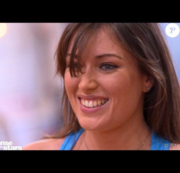 """Elsa Esnoult et Anthony Colette sur un quickstep lors du troisième prime de """"Danse avec les stars 2019"""", le 5 octobre, sur TF1."""