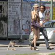 Carlos Leon en promenade avec sa girlfriend, à New York, le 30 août 2009 !