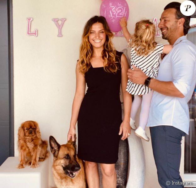 Laetitia Milot en famille fête l'anniversaire de sa fille Lyana le 14 mai 2020.