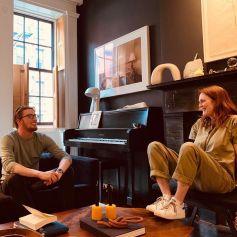 Julianne Moore et son fils Caleb sur Instagram, juillet 2019.