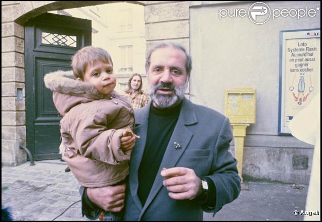Jean Yanne avec son fils Jean-Christophe