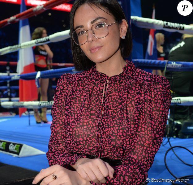 Agathe Auproux lors du gala de boxe Univent à l'AccorHotels Arena de Paris pour le championnat du monde WBA le 15 novembre 2019. © Veeren / Bestimage