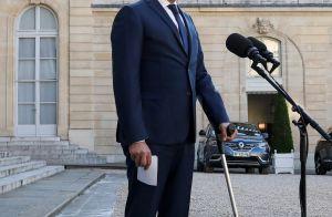 Christophe Castaner blessé : le ministre apparaît avec une béquille