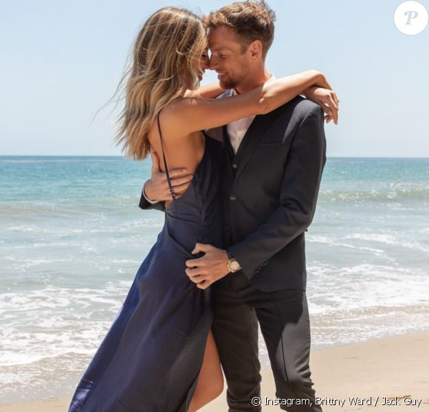 Brittny Ward et son fiancé Jenson Button. Février 2020.