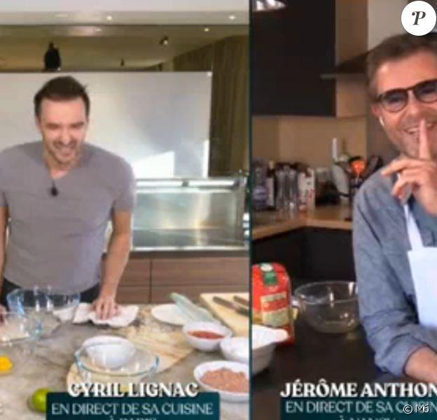 Cyril Lignac et Jérôme Anthony en live sur M6 pour cuisiner - 31 mars 2020, M6