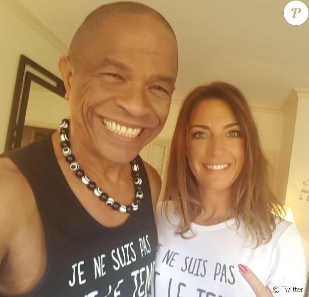 Francky Vincent et Eve Angeli sur une photo publiée sur Twitter en octobre 2017.