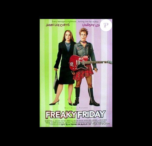 """Lindsay Lohan et Jamie Lee Curtis à l'affiche du film """"Freaky Friday"""", avec l'adorable Ryan Malgarini. 2003."""