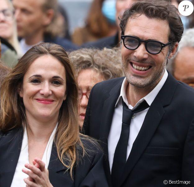 Victoria Bedos, Nicolas Bedos - Sorties - Hommage à Guy Bedos en l'église de Saint-Germain-des-Prés à Paris le 4 juin 2020.