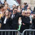 Victoria Bedos, Nicolas Bedos, Joëlle Bercot, Muriel Robin et sa compagne Anne Le Nen, Doria Tillier - Sorties - Hommage à Guy Bedos en l'église de Saint-Germain-des-Prés à Paris le 4 juin 2020.