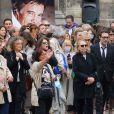 Nicolas Bedos, Joëlle Bercot, Victoria Bedos, Anne Le Nen, Muriel Robin, Jean-Michel Rives, Mireille Dumas, Doria Tillier, - Sorties - Hommage à Guy Bedos en l'église de Saint-Germain-des-Prés à Paris le 4 juin 2020.