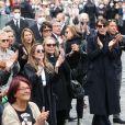 Nicolas Bedos, Joëlle Bercot (femme de Guy Bedos), Victoria Bedos, Muriel Robin et sa compagne Anne Le Nen, Doria Tillier, Smain - Sorties - Hommage à Guy Bedos en l'église de Saint-Germain-des-Prés à Paris le 4 juin 2020.