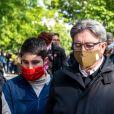 Jean-Luc Mélenchon lors d'une manifestation contre le racisme et les violences policières place de la République à Paris le 9 juin 2020