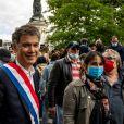 Olivier Faure lors d'une manifestation contre le racisme et les violences policières place de la République à Paris le 9 juin 2020
