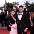 """Nabilla Benattia (enceinte) et son mari Thomas Vergara - Montée des marches du film """"A Hidden Life"""" lors du 72ème Festival International du Film de Cannes. Le 19 mai 2019 © Rachid Bellak/ Bestimage"""