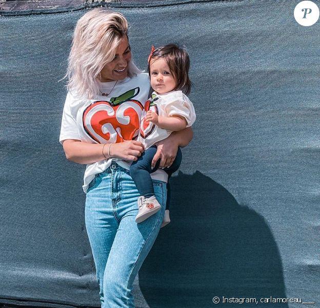 Carla Moreau avec sa fille Ruby, photo Instagram du 10 juin 2020