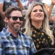 Brandon Blackstock et sa femme Kelly Clarkson - Simon Cowell reçoit son étoile sur le Walk Of Fame à Hollywood, le 22 août 2018.