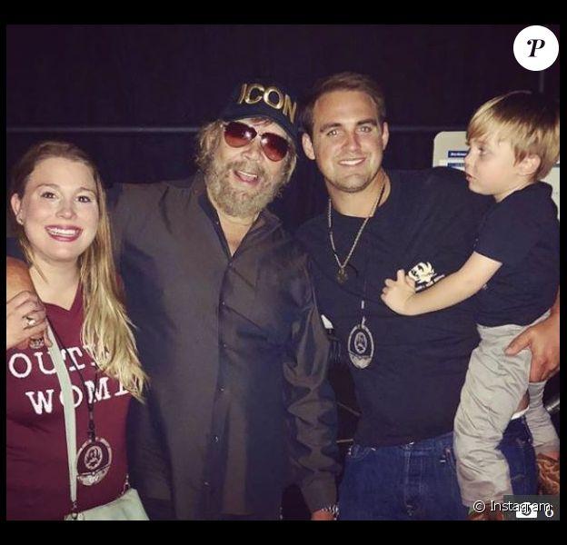 Hank Williams Jr avec sa fille Katherine et son beau-fils Tyler Dunning.