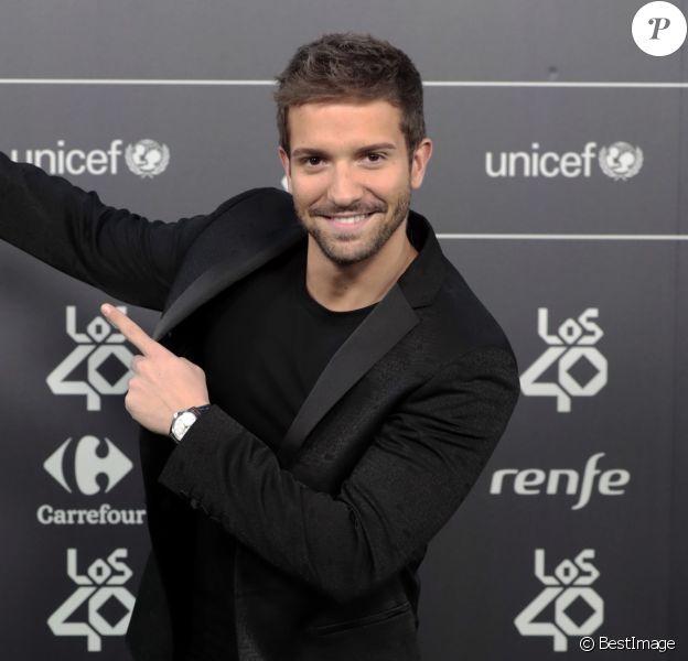 Pablo Alboran - Les célébrités posent lors du photocall des Music Awards à Madrid le 2 novembre 2018.