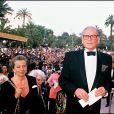 Pierre Cardin au Festival de Cannes en 1990.