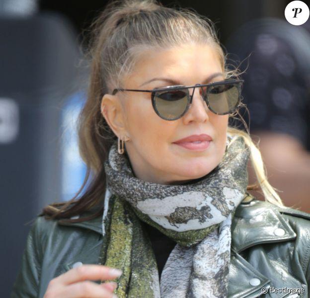 Exclusif - Fergie sort d'un dîner au Fresco à Los Angeles le 10 juillet 2019.