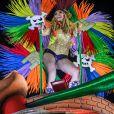 """Exclusif - Cathy Guetta défile sur le char de l'école de samba """"Academicos do Grande Rio"""" lors du carnaval de Rio de Janeiro, Brésil, le 4 mars 2019. © Denis Raphaël/Carnavalderio.fr/Bestimage"""