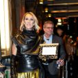 Céline Dion quitte un théâtre de Broadway à New York le 4 février 2020.