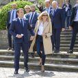 Le Président de la République Emmanuel Macron et sa femme la Première Dame Brigitte Macron sont allés voter à la Mairie du Touquet-Paris-Plage lors du second tour des élections municipales, le 28 juin 2020. © Eliot Blondet/Pool/Bestimage