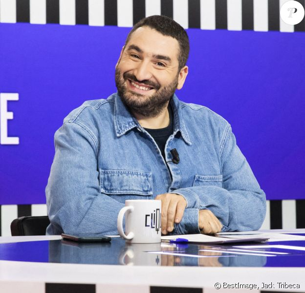 Exclusif - - Mouloud Achour - Enregistrement de l'émission Clique du 13/03/2020 présentée par Mouloud Achour, sur Canal Plus à Paris le 13 mars 2020. ©jack tribeca/Bestimage