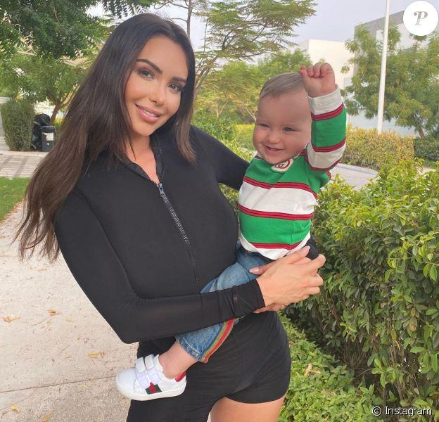 Nabilla et son fils Milann, le 18 juillet 2020 sur Instagram.