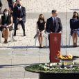 Le roi Felipe VI, la reine Letizia et leurs filles la princesse Leonor et la princesse Sofia d'Espagne - La famille royale d'Espagne lors de la commémoration en hommage aux victimes du Coronavirus (COVID-19) à Madrid. Le 16 juillet 2020