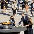 Le roi Felipe VI et la reine Letizia d'Espagne, La princesse Leonor, L'infante Sofia d'Espagne - Funérailles d'État honorant les victimes de l'épidémie de Coronavirus (COVID-19) au Palais Royal à Madrid le 16 juillet 2020.