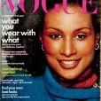 Beverly Johnson en couverture du Vogue d'août 1974. Photo par Francesco Scavullo.