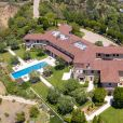 Vues aériennes de la maison de Meghan Markle et du prince Harry à Los Angeles. La maison appartient au producteur Tyler Perry. Los Angeles, le 7 mai 2020.