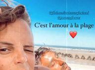 """Laure Manaudou détendue : """"L'amour à la plage"""" avec Jérémy Frérot"""