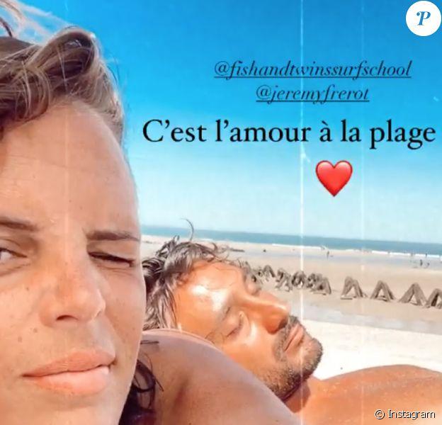 Laure Manaudou et Jérémy Frérot s'éclatent à la plage, le 4 août 2020.