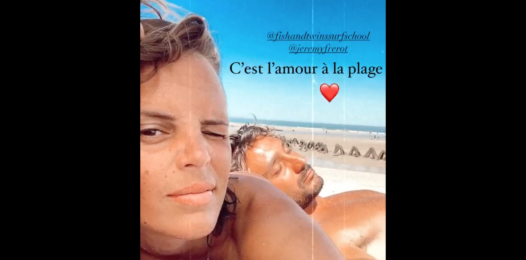 """Laure Manaudou détendue : """"L'amour à la plage"""" avec Jérémy ..."""