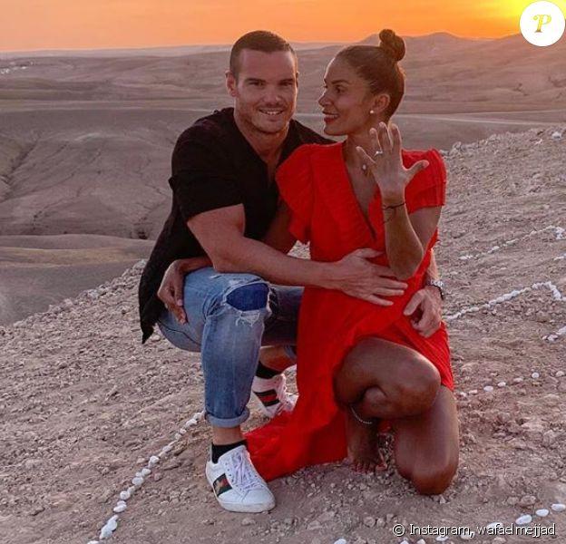 Wafa (Koh-Lanta, Mamans & Célèbres) sur Instagram avec son futur mari Oliver - 2020